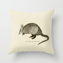 Armadillo power Throw Pillow