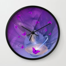 Birth of butterfly wishes Wall Clock