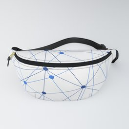 Network background. Connection concept. Fanny Pack