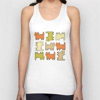 cartoon Tank Tops featuring Cartoon Kitties by Irina  Romanovsky