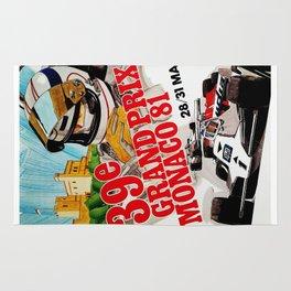 Gran Prix de Monaco, 1981, original vintage poster Rug