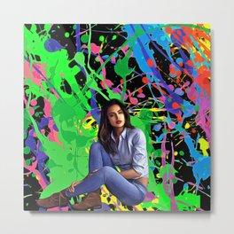 Irina Shayk - Celebrity Art Metal Print