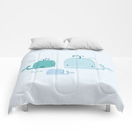 whale family Comforters
