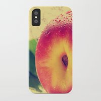 peach iPhone & iPod Cases featuring Peach  by Tanja Riedel