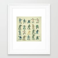 army Framed Art Prints featuring Broken Army by Cassia Beck