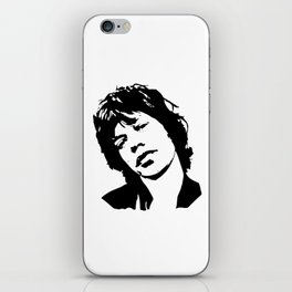 """CHRISTMAS GIFTS OF Sir Michael Philip """"Mick"""" JaggerBlack White Face, Music, Art iPhone Skin"""