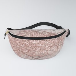 Blush Pink Marble & Pink Glitter Fanny Pack