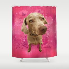 PARKER POSEY (strawberry) puffy cloud series Shower Curtain