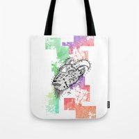 goat Tote Bags featuring Goat  by LSjoberg