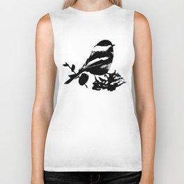 Chickadee Pattern Biker Tank