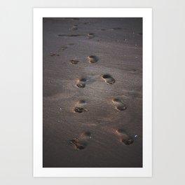 Burn In the Sand Art Print