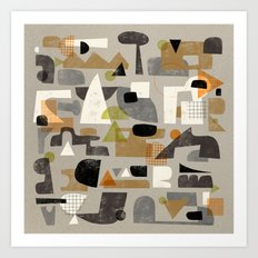 IMPERFECT SHAPES Art Print