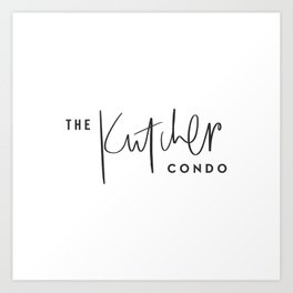 The Kutcher Condo Pillow Art Print