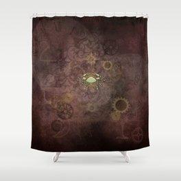 Steampunk Zodiac Cancer Shower Curtain