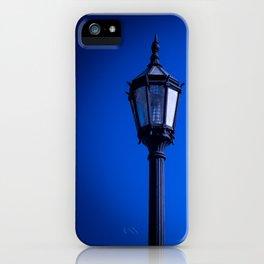 lamp over blue sky iPhone Case