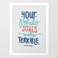 potato Art Prints featuring Potato by eugeniaclara