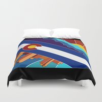 denver Duvet Covers featuring Denver, CO by HighTribe