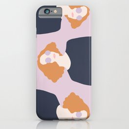 Orange Hair Girl // Minimalist Indie Rock Music Festival Lavender Sunglasses by Mighty Face Designs iPhone Case