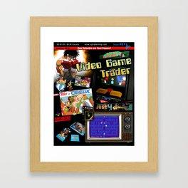 Video Game Trader #21 Cover Design  Framed Art Print