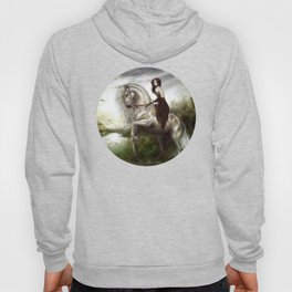 Morning welcome - Royal redead girl riding a white horse Hoody