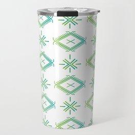 UrbanNesian Green & Turquoise Malu Travel Mug
