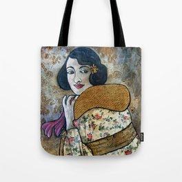 Vintage Impressions * Fuchia Scarf Tote Bag