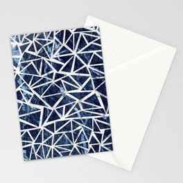 Mozaic Triangle Blue Marble Stationery Cards