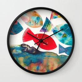 I Catch Eight Fish, Splash  Splash Splash Wall Clock