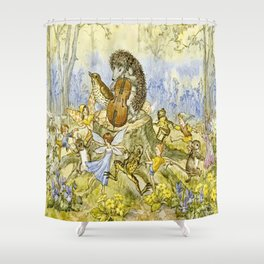 """Forest Festivities"" by Molly Brett (1924) Shower Curtain"