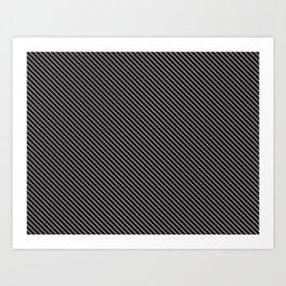 Black & White Pinstripes Suit Art Print