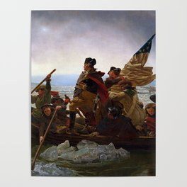 George Washington Crossing Of The Delaware River Painting Poster
