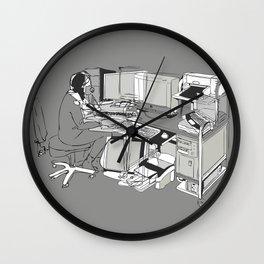 COMPUTER OFFICE WORKER Wall Clock