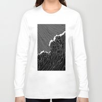 wave Long Sleeve T-shirts featuring Wave by Tim Bywater