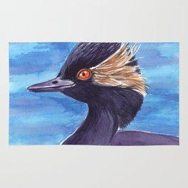 Grebe bird Rug