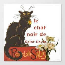 Le Chat Noir De Saint David De Rodolphe Salis Canvas Print