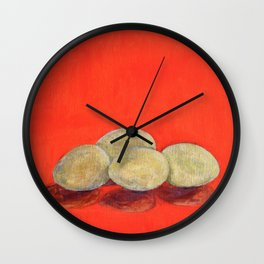 Eggs the goose left behind Wall Clock