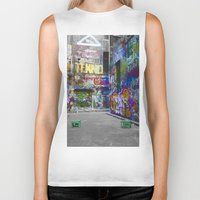 melbourne Biker Tanks featuring Melbourne Graffiti 2 by Another Alex