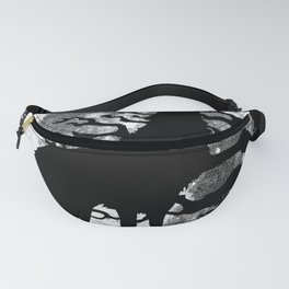 WOLF AND MOON IN BLACK AND WHITE Fanny Pack
