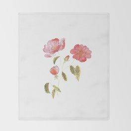 Rose Flower Throw Blanket