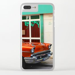 Orange Car in Havana Clear iPhone Case