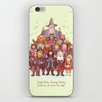 middle earth iPhone & iPod Skins featuring The loudest carollers in Middle Earth by Alicia MB