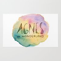 agnes cecile Area & Throw Rugs featuring Agnes in Wonderland by Agnes in Wonderland