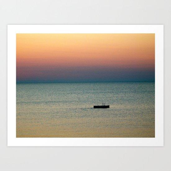 Tye Dye Sunrise Art Print