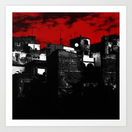 Old Buildings in Belgrade Art Print