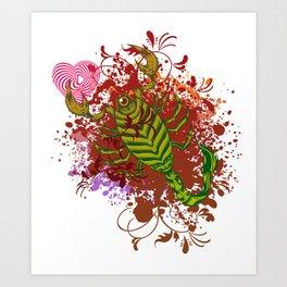 Scorpio in Love Art Print