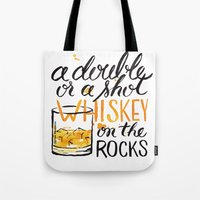 whiskey Tote Bags featuring whiskey by desfigure