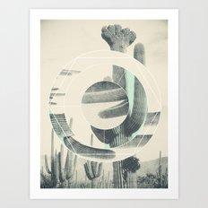 Saguaro Sun Art Print
