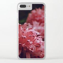 Pink Bellingrath Floral Clear iPhone Case
