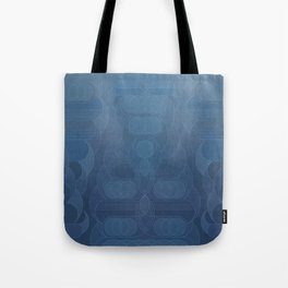 Round and About Blue Gray Tote Bag