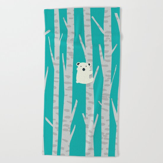 Lonesome Koala Beach Towel